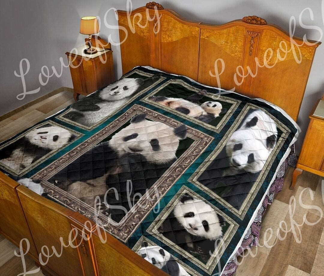 Panda Photograph Cute Quilt Super Quee King Size Blankets Dedication - price
