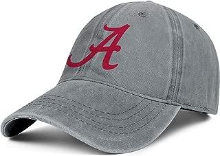 Unisex Alabama-Crimson- Baseball Cap Hat - Classic Adjustable Sports Cowboy Hat