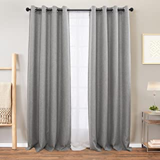 Best light grey linen curtains Reviews