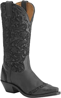 Boulet Women's Tooled Midnight Cowgirl Boot Snip Toe - 1656