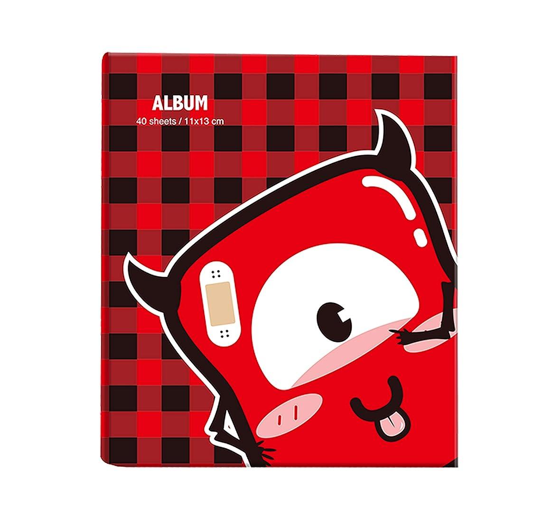 Aucheer Insta Film Album, Mini Photo Album for Picture of Fujifilm Instax Mini 8 9 Camera Instax Printer & Polaroid Snap Mint Zip Instant Prnter - Little Devil Red England Plaid