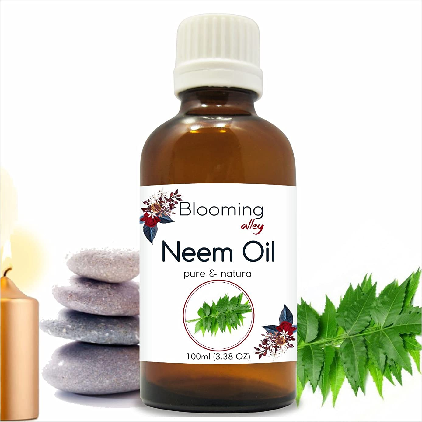 岩海岸疑いNeem Oil (Azadirachta Indica) Essential Oil 100 ml or 3.38 Fl Oz by Blooming Alley