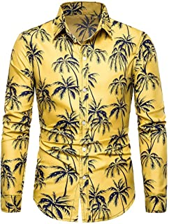 Chemise Homme Chemises Slim Homme En Lin Et Coton Imprimé Moderne Eté Hiver Manches Longues T Shirt De Base Blouse Fit Top