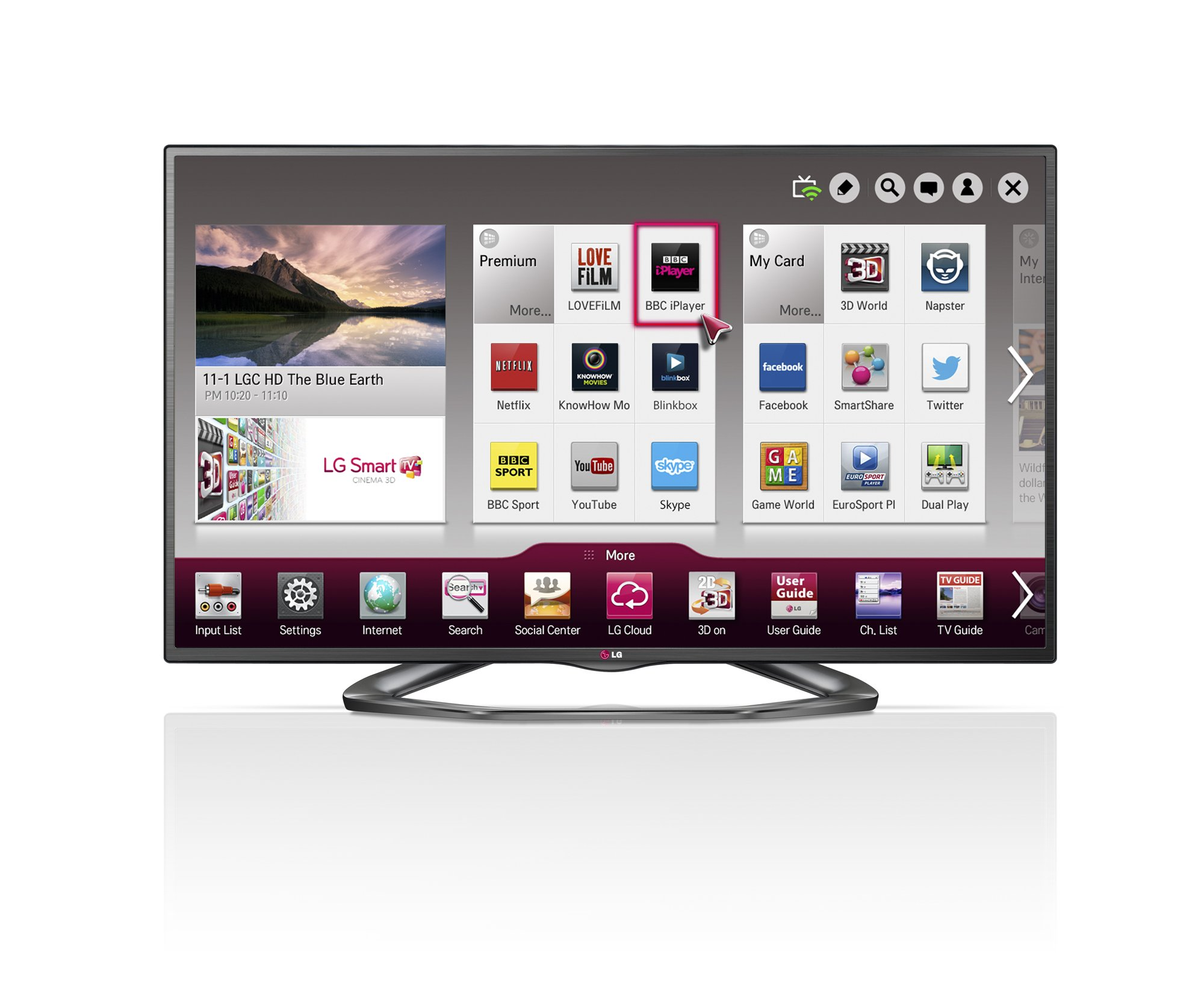 LG 32LA620V 32 Inch 3D LED Smart TV FHD Video Camera Ready WiFi: Amazon.es: Electrónica