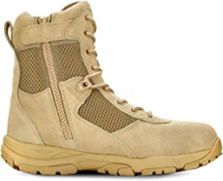 Men's LANDSHIP 8 Inch Military Tactical Duty Work Boot with Zipper