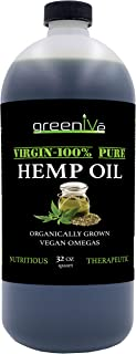GreenIVe - Hemp Oil 910,000mg - Anti-Inflammatory - Vegan Omegas - Cold Pressed - Exclusively on Amazon (32 Ounce)