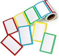 """Pacific Mailer Colorful Plain Name Tag Sticker Labels [200 Labels, 3 1/2"""" x 2 1/4""""]"""
