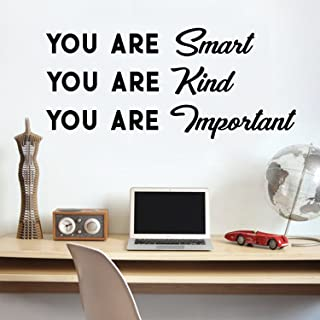 Vinyl Wall Art Decal - You are Smart You are Kind You are Important - 16