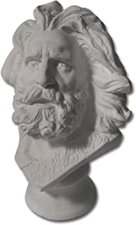 Torino Mini Marseilles and or Moses Head Plaster Cast Mannequin, Great for Artists, Artistic Piece, White, 4