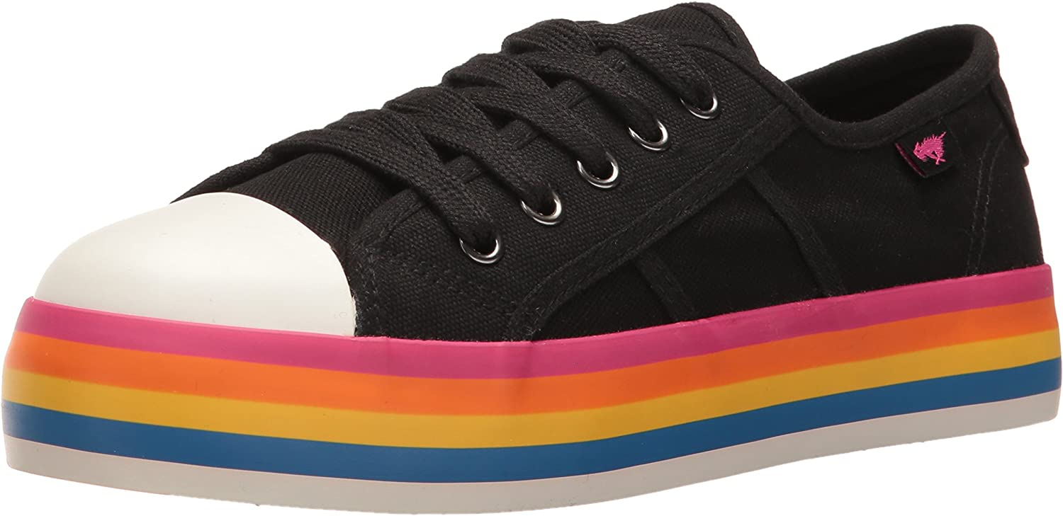 Rocket Dog Womens Magic Canvas Rainbow Foxing Fashion Sneaker