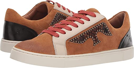 Brown Multi/ Polished Soft Full Grain/Suede/Snake Embossed Leath
