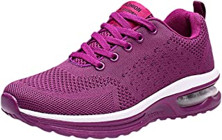 Women's Running Shoes,Frunalte Flying Weaving Sport Shoes Lace Up Casual Shoes Student Fashion Running Sneakers