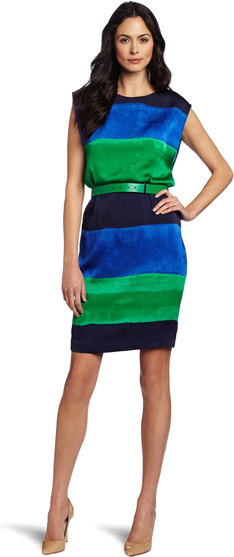 Anne Klein AK Women's Ombre Stripe Wedge Dress