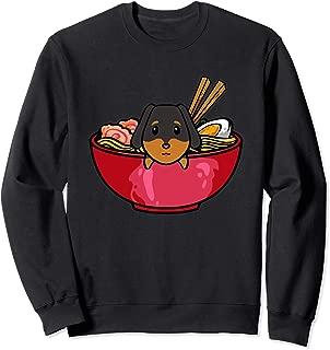 Kawaii Dachshund Ramen Sweatshirt Japanese Noodles