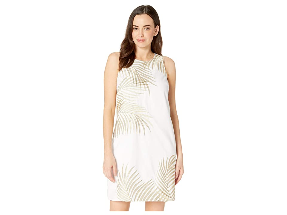 Tommy Bahama Lanailette Embroidered Shift Dress (White) Women