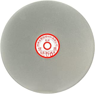 uxcell 200mm 8-inch Grit 600 Diamond Coated Flat Lap Disk Wheel Grinding Sanding Disc