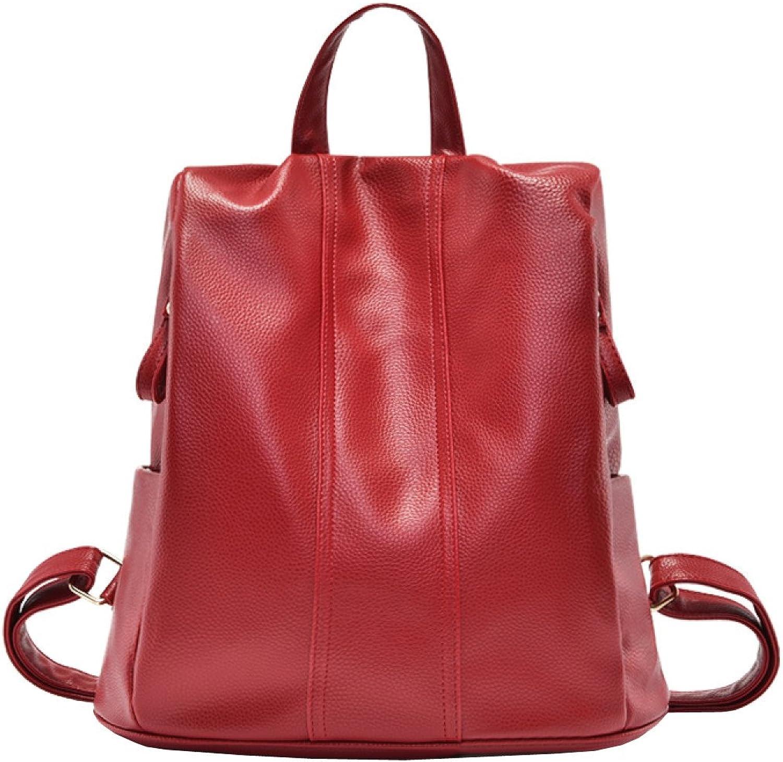 LAIDAYE Ladies Shoulder Bag PU Dual Use Travel Backpack Shoulder Fashion School Wind Bag Ladies Shoulder Bag