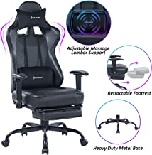 VON RACER Massage Gaming Chair – High Back Racing PC Computer Desk Office Chair..