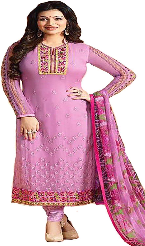 Bollywood Party wear Straight Salwar Kameez Suit Dupatta Ceremony Satin