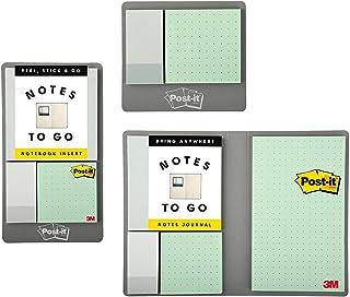 Post-it Notas para sair, inclui 2 inserções adesivas e um caderno de notas, coleção profissional neutra (NTG-SLJ-NP)