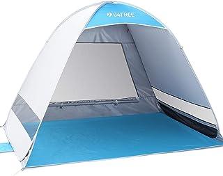 G4Free Uppdaterat popup-tält 2–4 person UPF 50+ UV-skydd solskydd obtak camping vandring fiske picknick strand sommar auto...