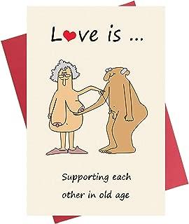 Funny Anniversary Card, Birthday Card for Boyfriend Girlfriend Wife Husband