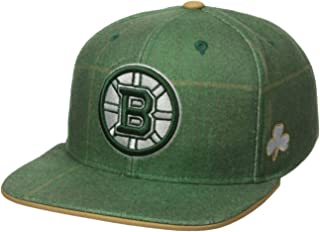 Reebok NHL Mens NHL SP17 St. Patrick's Day Plaid Flat Brim Snapback Hat