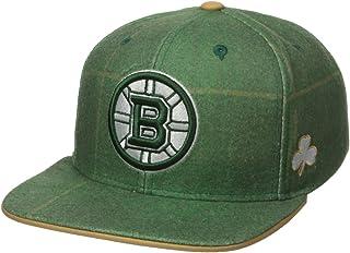 e0c99d8c0cc Reebok NHL Mens NHL SP17 St. Patrick s Day Plaid Flat Brim Snapback Hat