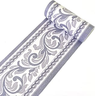 Yifely Moistureproof PVC Wallpaper Border Peel & Stick Scroll Wall Borders Sticker Home Decor