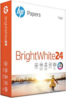 HP Printer Paper, BrightWhite24, 8.5 x 11 Paper, Letter Size, 24lb Paper, 97 Bright, 500 Sheets / 1 Ream (203000R), Acid Free Paper