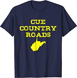 Cue Country Roads T-shirt Blue and Gold