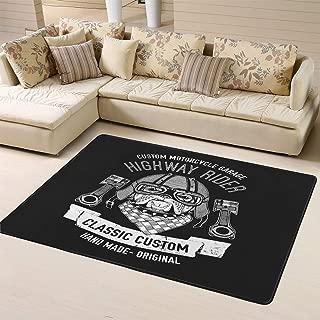 Area Rug Rugs Doormats Biker Quote with Dog for Garage Service Shirt Spare Parts Imagenon-Slip Indoor Outdoor 60