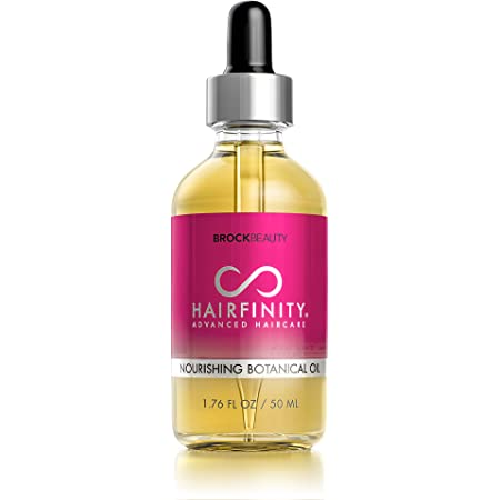 Hairfinity Botanical Hair Oil - Growth Treatment for Dry Damaged Hair and Scalp with Jojoba, Olive, Sweet Almond Oils and More - Silicone and Sulfate Free 1.76 oz