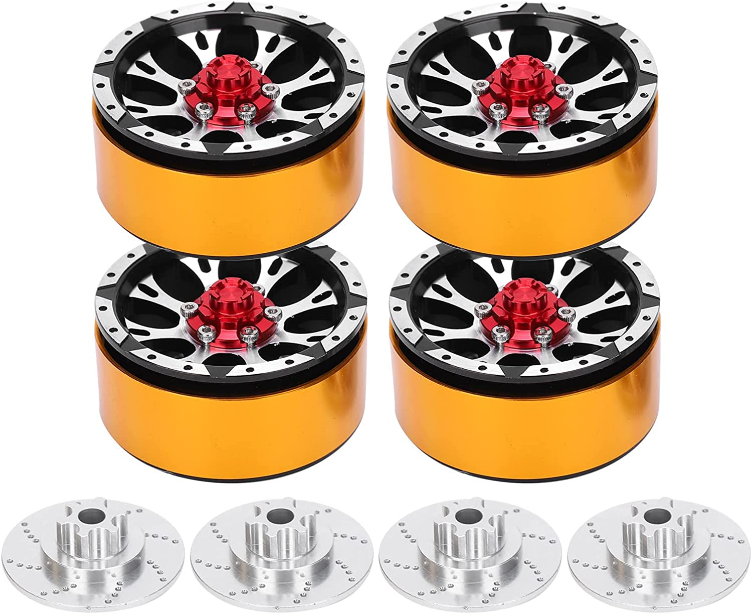 YUANJS Wheel Hubs 4Pcs 1.7in Metal with Limited price Sale SALE% OFF sale Decorativ RC