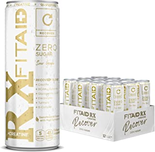 LIFEAID FITAID Rx Zero, Keto-Friendly, #1 Post-Workout Recovery Drink, 0g Sugar, Quercetin, Creatine, BCAAs, Omega-3s, Gre...