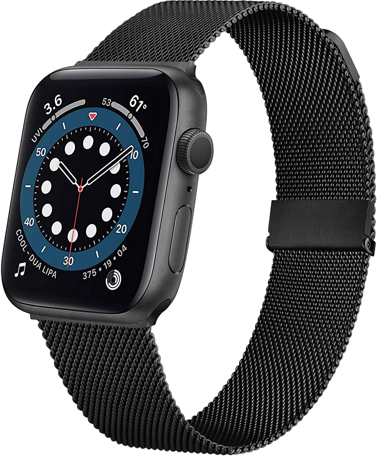 Mugust NEW upgrade Metal Magnetic Bands Compatible for Apple Watch Band 40mm 44mm 38mm 42mm, Stainless Steel Mesh Loop Replacement Band Compatible with iWatch Series 6 5 4 3 2 1 SE for Women Men