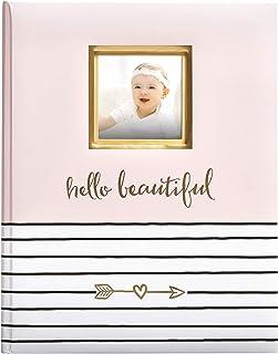 Pearhead Hello Beautiful Baby Memory Book, Milestone Journal, New Mum Gift, Newborn Baby, Thoughtful Keepsake for Christen...