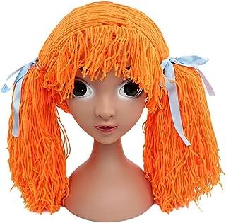 Funbase Baby Kids Knit Braid Fake Hair Hat Wig Headwear for Halloween Costume