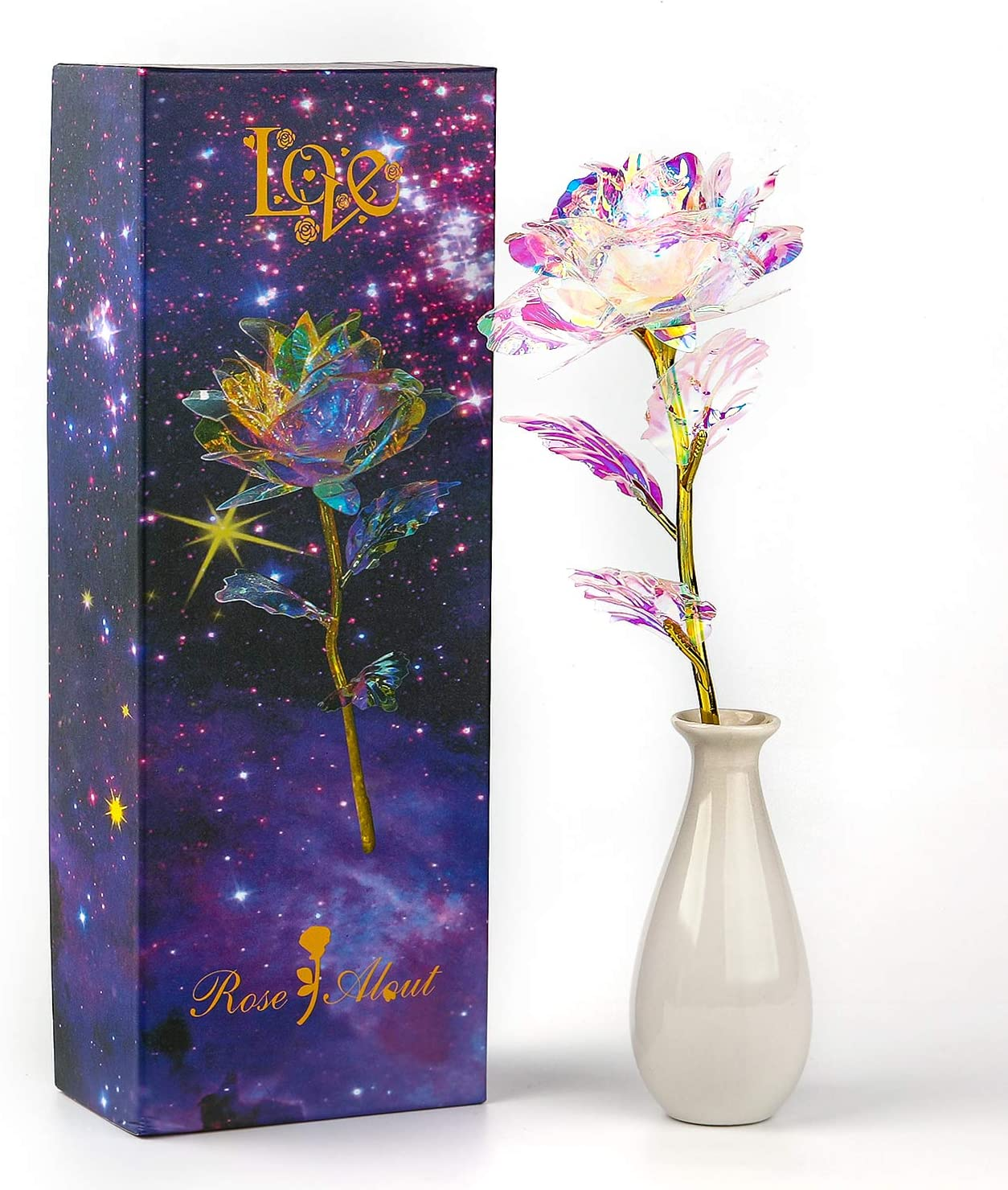 Colorful Popular brand in the world Rose Artificial Gold Unique GiftsValentine Regular discount Flower Roses