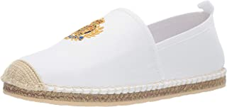 Polo Ralph Lauren Men's Barron Crest Slipper, White, 9.5 D US