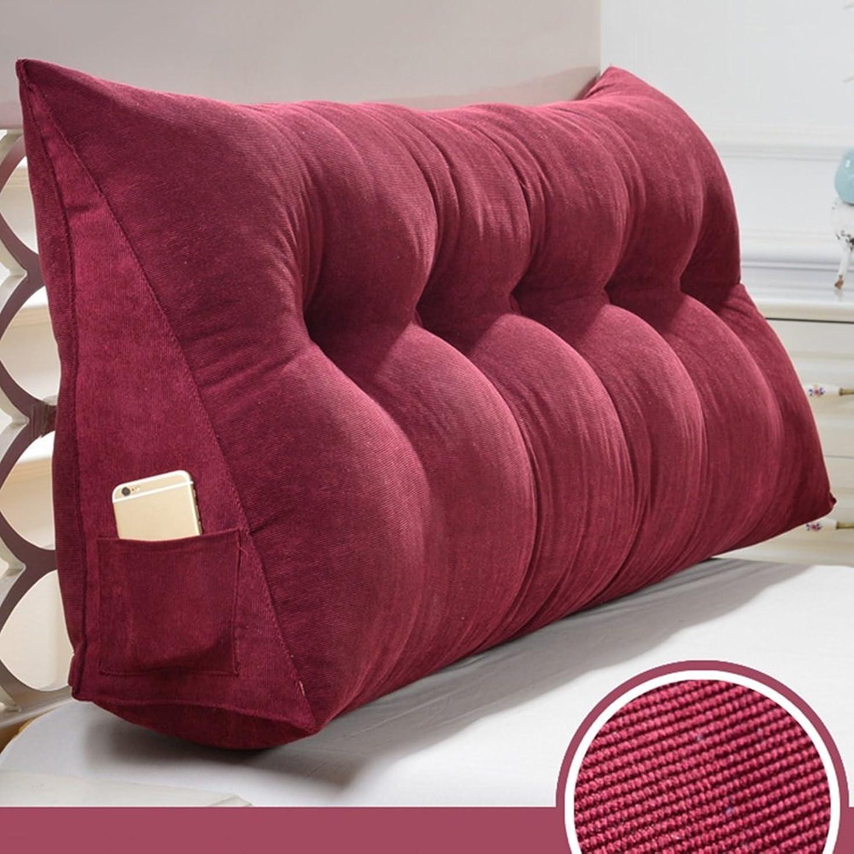 機械的ハウジング見分ける2J-QingYun Trade トライアングルベッド大型クッションウェッジ背もたれウエストパッドベッドソファソフトバッグバックレスト、取り外し可能、洗える色、9サイズベッドバックレストパッド (Color : 赤, サイズ : 200×50×20cm)