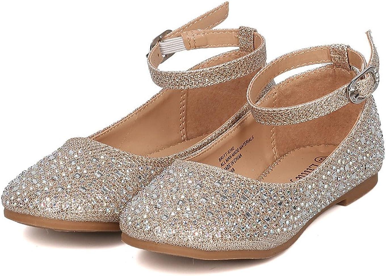 Little Angel Girls Glitter Rhinestone Ballet Flat