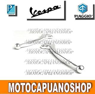 5026 COPPIA LEVE LEVA CROMATA DX SX COMPATIBILE CON PIAGGIO VESPA PK PL IN ALLUMINIO CIF