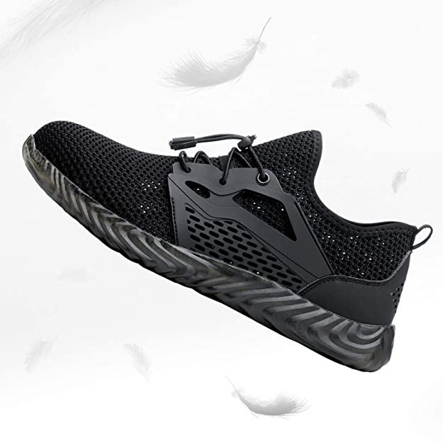 DYKHMILY Steel Toe Shoes for Men Women Lightweight Waterproof Slip Resistant Safety Work Shoes Slip on Water Shoe Puncture Proof Indestructible Sneakers