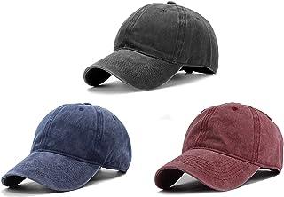 3 قطع من Beorchid قبعة بيسبول من نسيج قطني مضلع قابلة للتعديل بإبزيم قبعة أبي للنساء والرجال