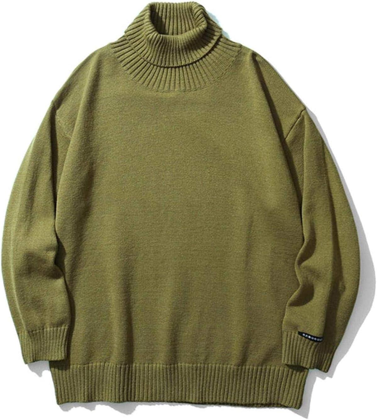 Knitted Pullover Turtleneck Men Sweater Soft Cashmere Wool High Neck Oversize Knitwear Jumper