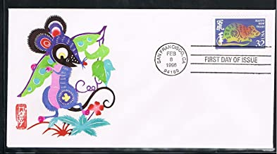 1996 -The 4th USA Lunar Stamp for The Year of the Rat First Day Cover-Cachet by Handmade Paper-Cut