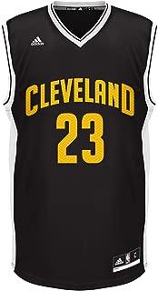 NBA Unisex Cleveland Cavaliers LeBron James Chevron Fashion Replica Jersey, X-Large, Black