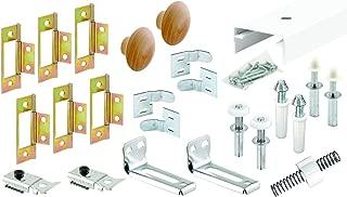 Slide-Co 161796 Bi-Fold Closet Track Kit (4 Door Hardware Pack), 60