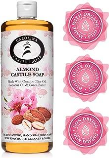 Carolina Castile Soap Almond w/Organic Cocoa Butter (32 Oz)